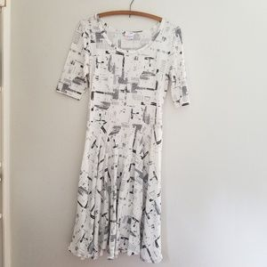 Lularoe Nicole black and white dress size M